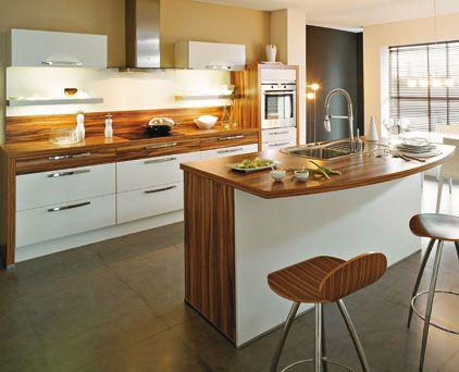 Cuisine Moderne Blanche Et Bois Cuisine design blanche et bois