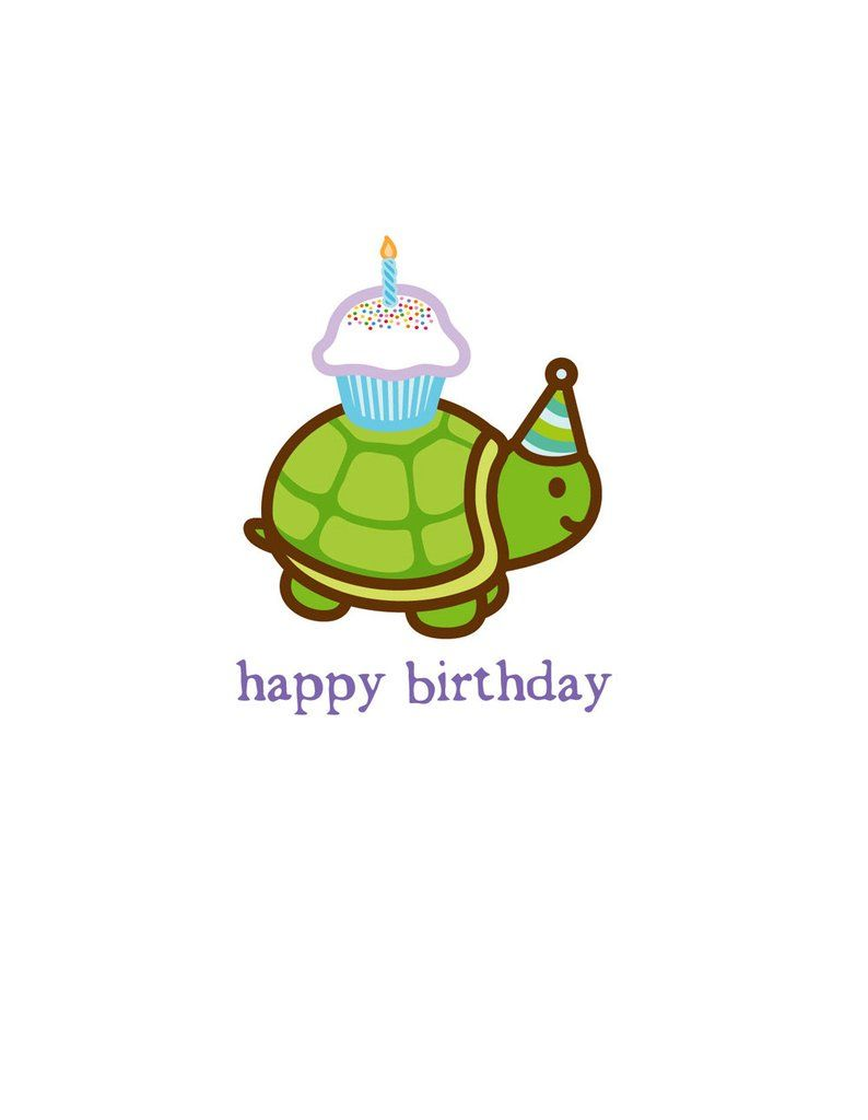 Turtle Birthday Card With Images Happy Birthday Turtle Happy