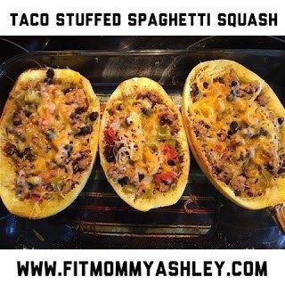 taco stuffed spaghetti squash #stuffedspaghettisquash