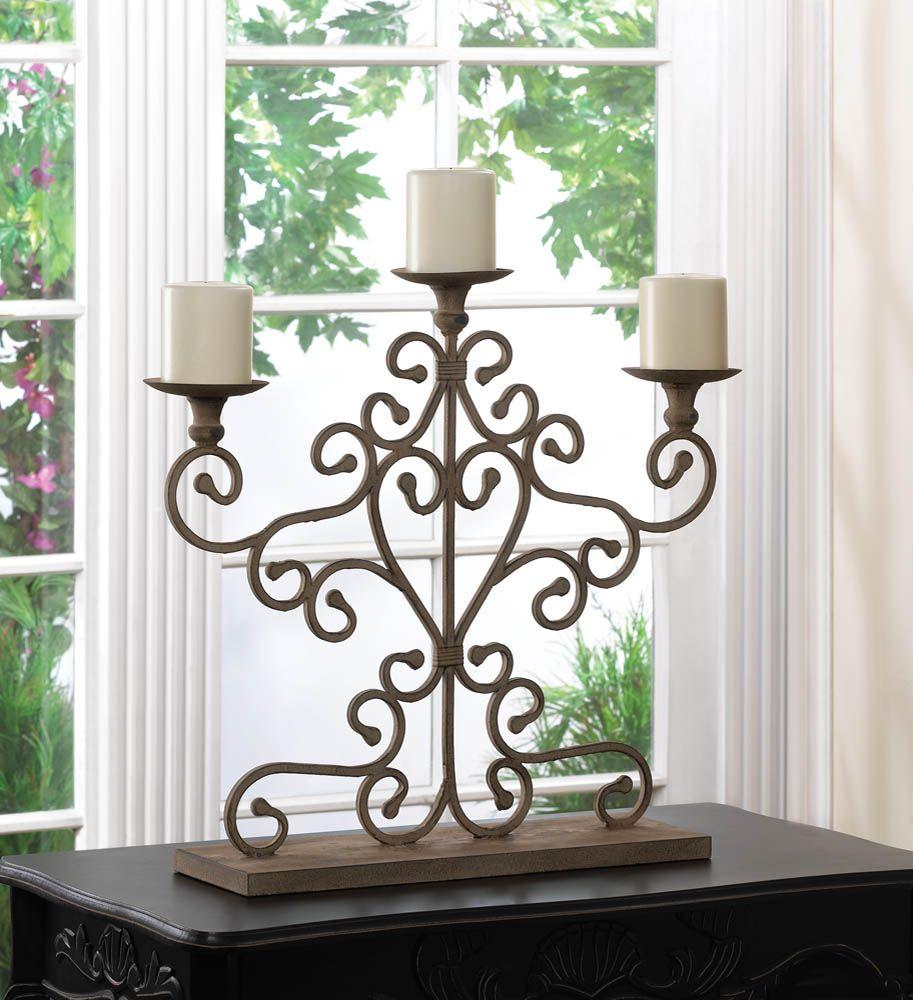 Wholesale Wrought Cast Iron Candelabra Wedding Tabletop Centerpiece ...