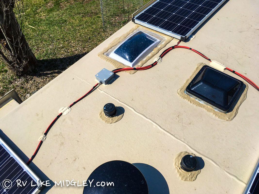 Combiner Box Rv Solar Power Installation Rv Like Midgley Rv Solar Power Solar Panels Solar Power