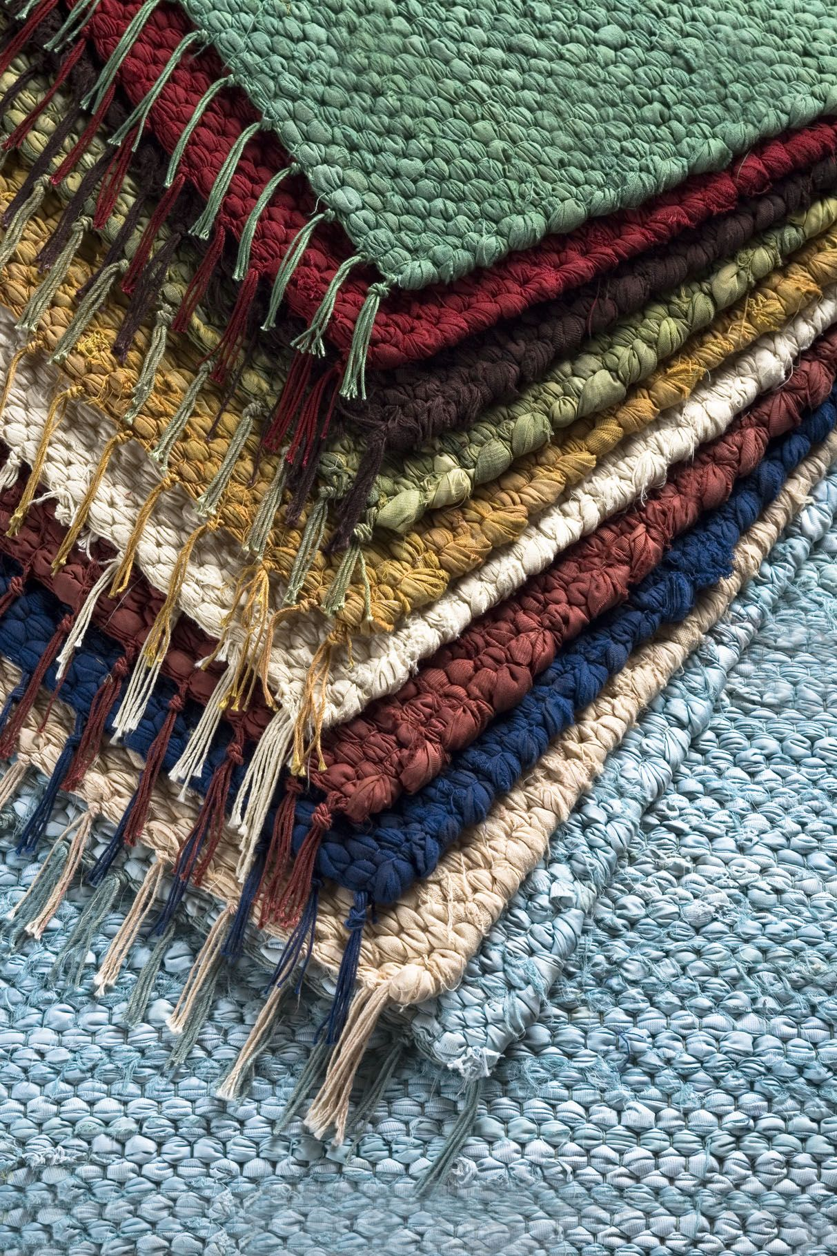 2 X 3 ft Rag Rug Throw All Solid Colors Cotton rag rug