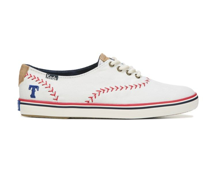 492f5a25e2d1f Make your team loyalty known in the Keds MLB Team Champion Canvas Sneaker  from Keds.