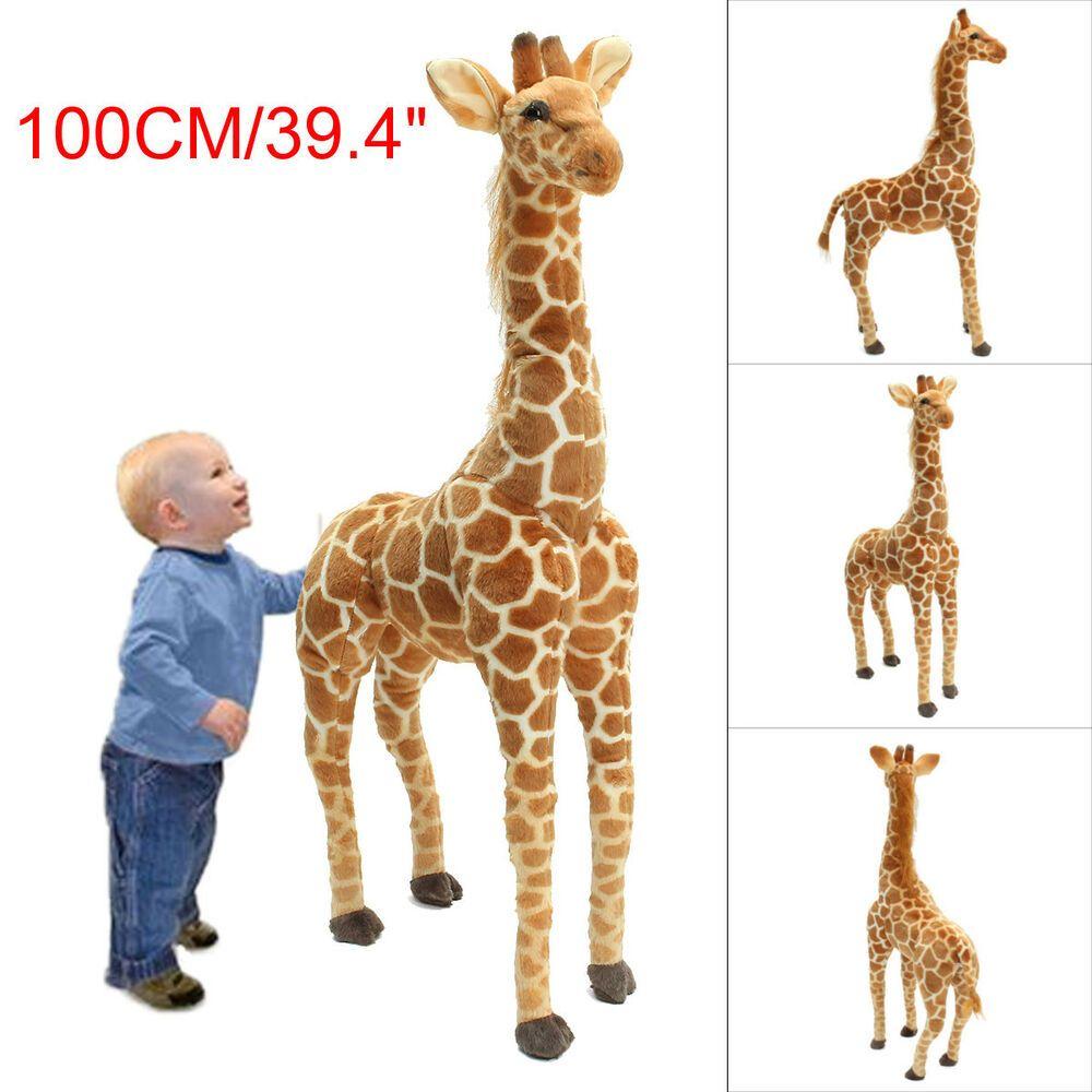 Animal Giraffe 1 X Giant Giraffe Toy Awe Inspiring Lifelike Plush Toy With Beautiful Markings And Realistic Giraffe Giraffe Soft Toy Large Stuffed Animals [ 1000 x 1000 Pixel ]