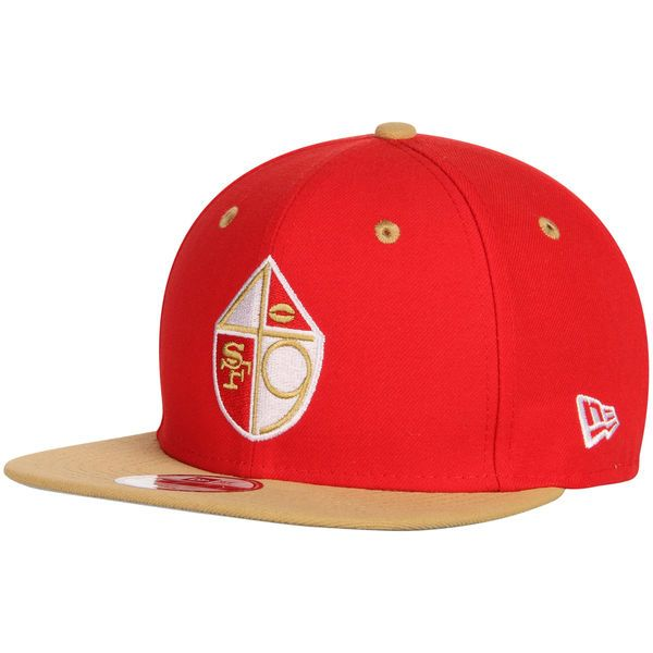 16966ff3 Men's San Francisco 49ers New Era Scarlet NFL 2Tone Throwback Original Fit 9FIFTY  Adjustable Hat, Your Price: $27.99