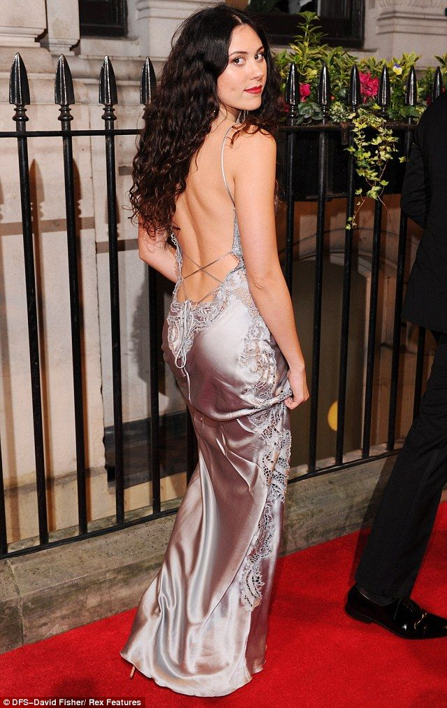 Woman in Backless Dress