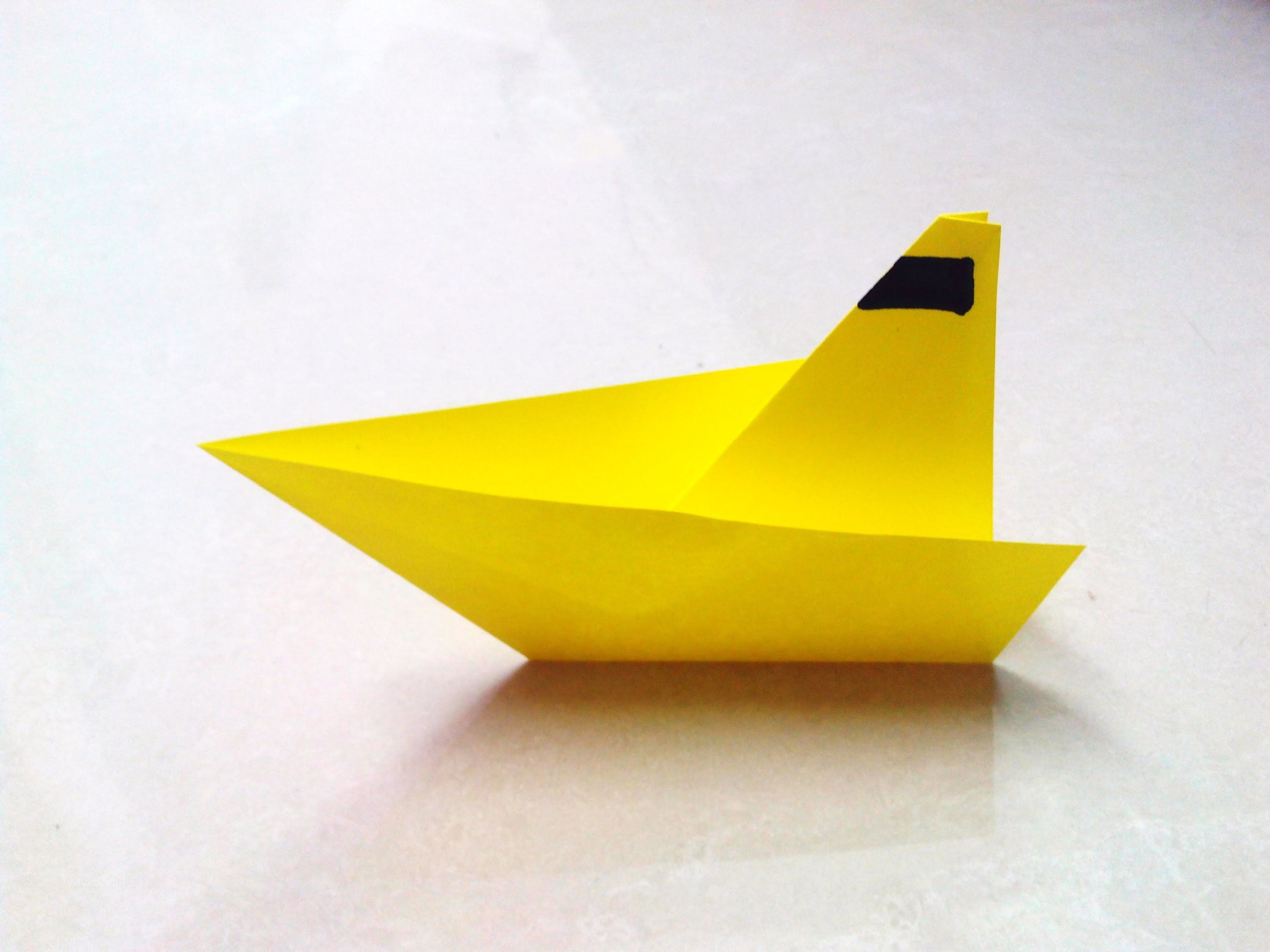 Making a simple boat out of paper with children 45