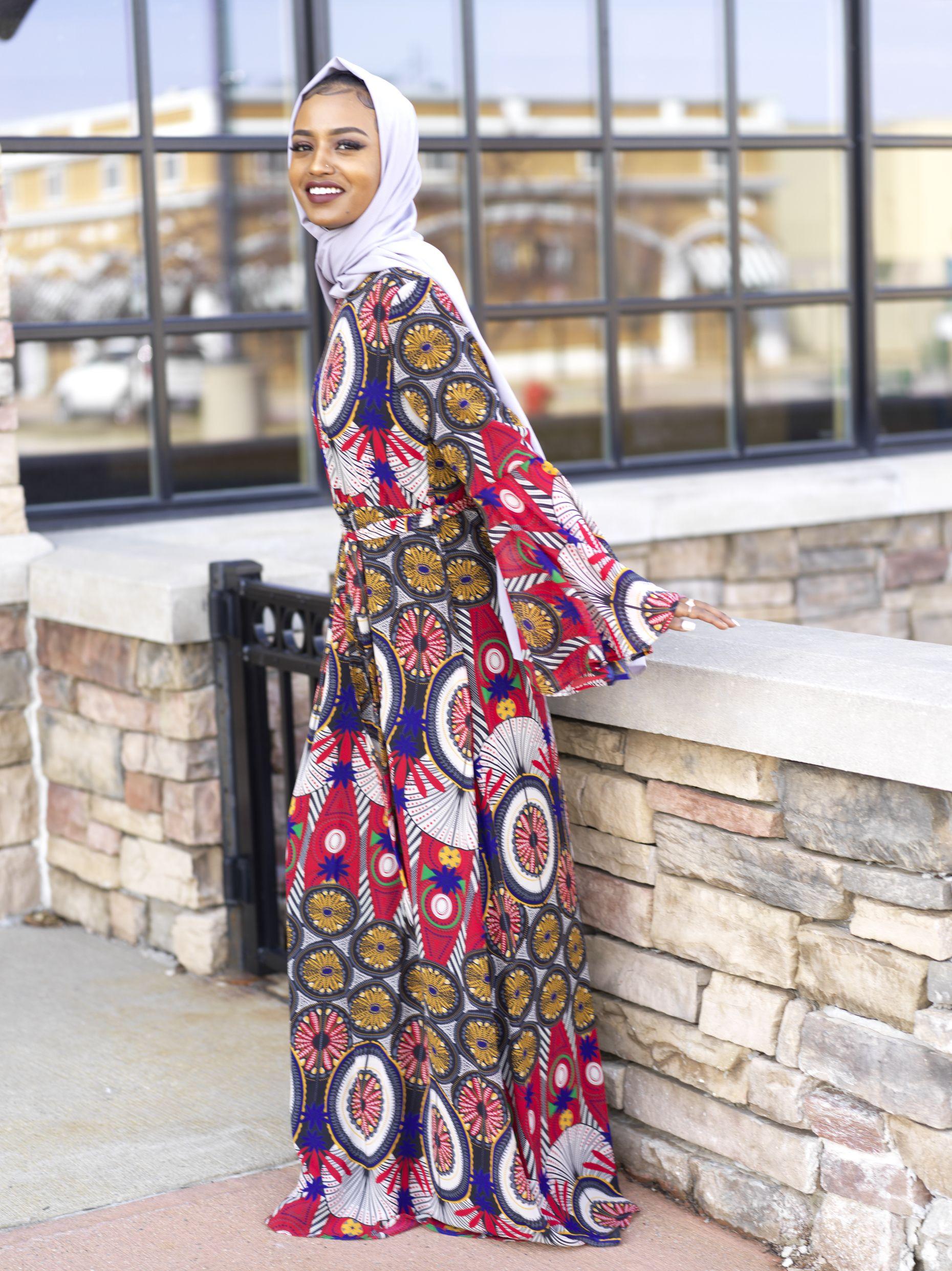 Details about  /Designer Arabic Style Long Dress Muslim Modest Abaya Shannoh