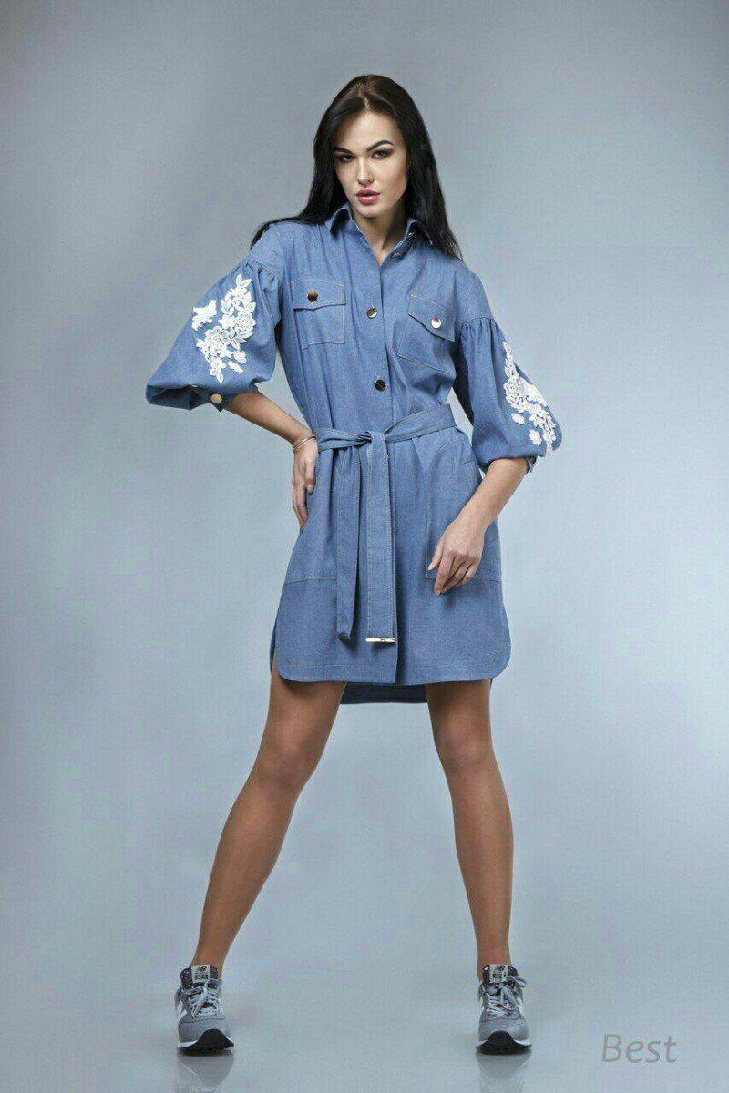 d603668b80a5ea9 «Джинсовое платье-рубашка Best с вышивкой» — карточка пользователя  proele888 в Яндекс.