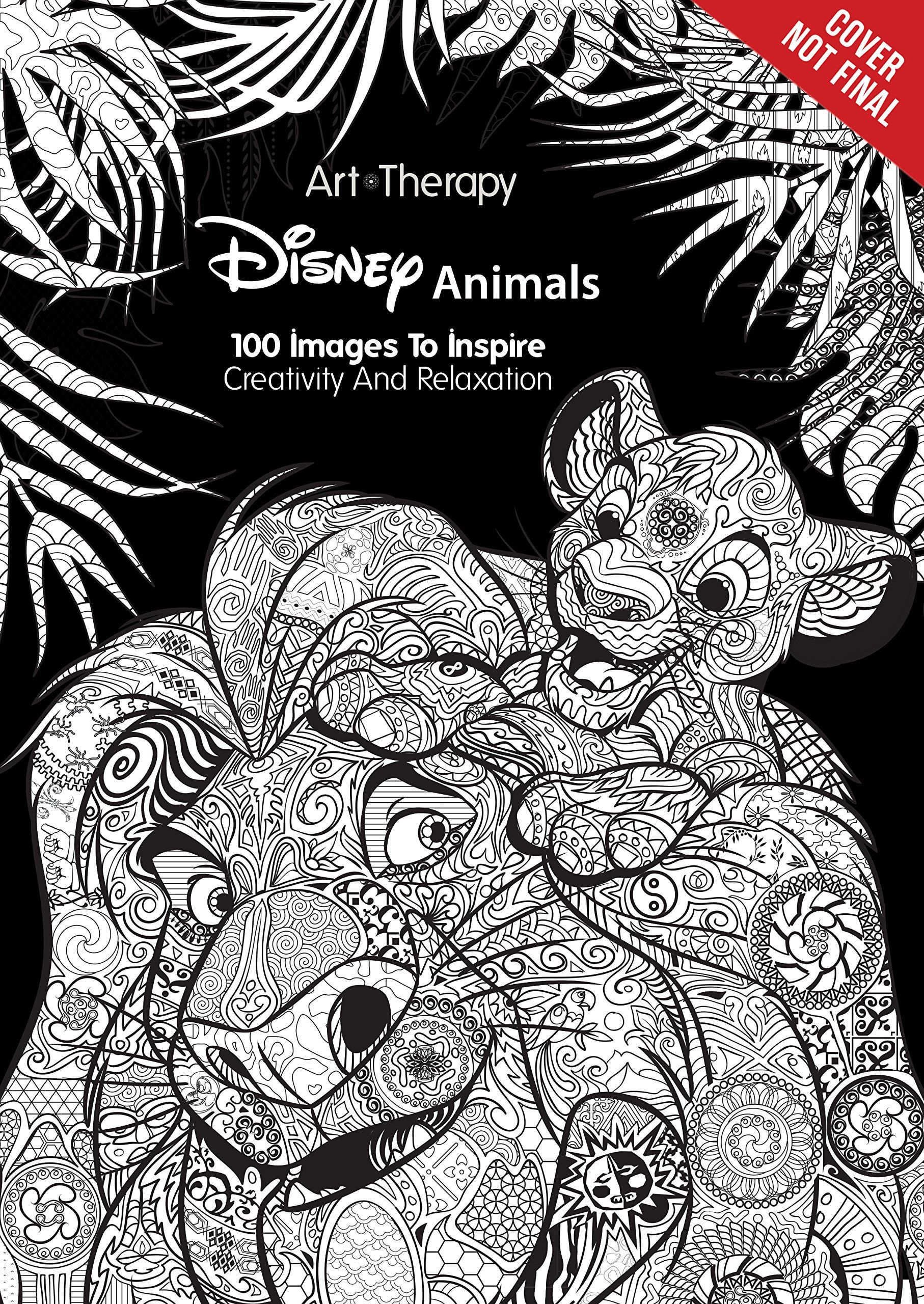 Disney coloring therapy - Disney Animals 100 Images To Inspire Creativity And Relaxation Art Therapy Catherine