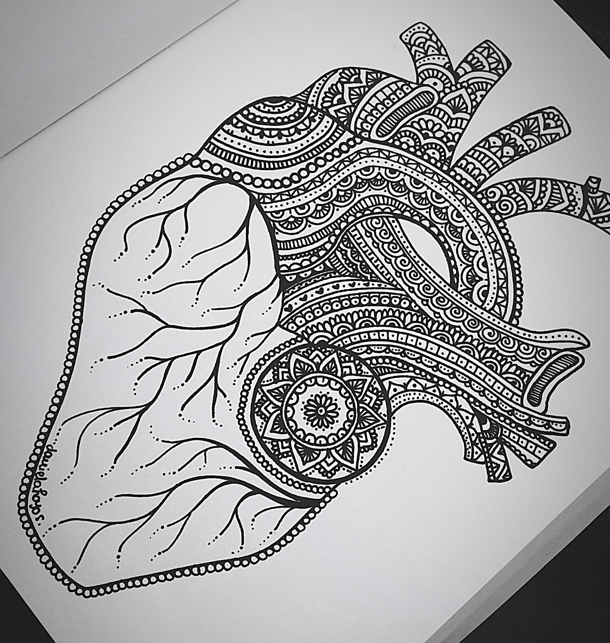 Zentangle heart drawing. HE||ART Daniela Hoyos Art | Tatoo ...