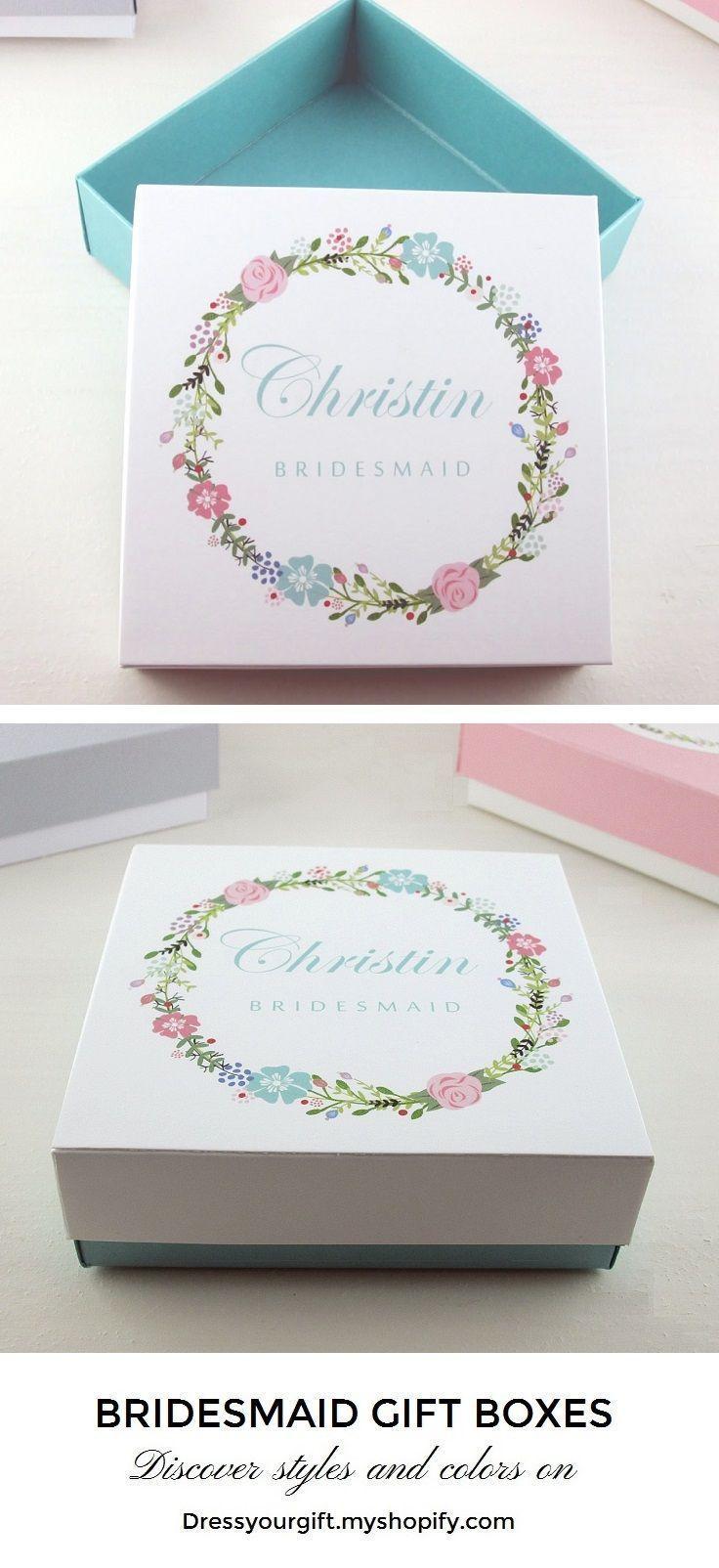 Aquamarine mint green bridesmaid gift box, bridesmaid proposal ...
