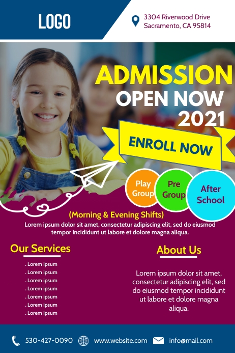 School Admission Open Poster Flyer Template Design Design Created With Postermywall In 2021 Admissions Poster Poster Template Template Design