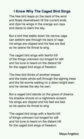 A Poet Sings of Freedom, Love and Life.