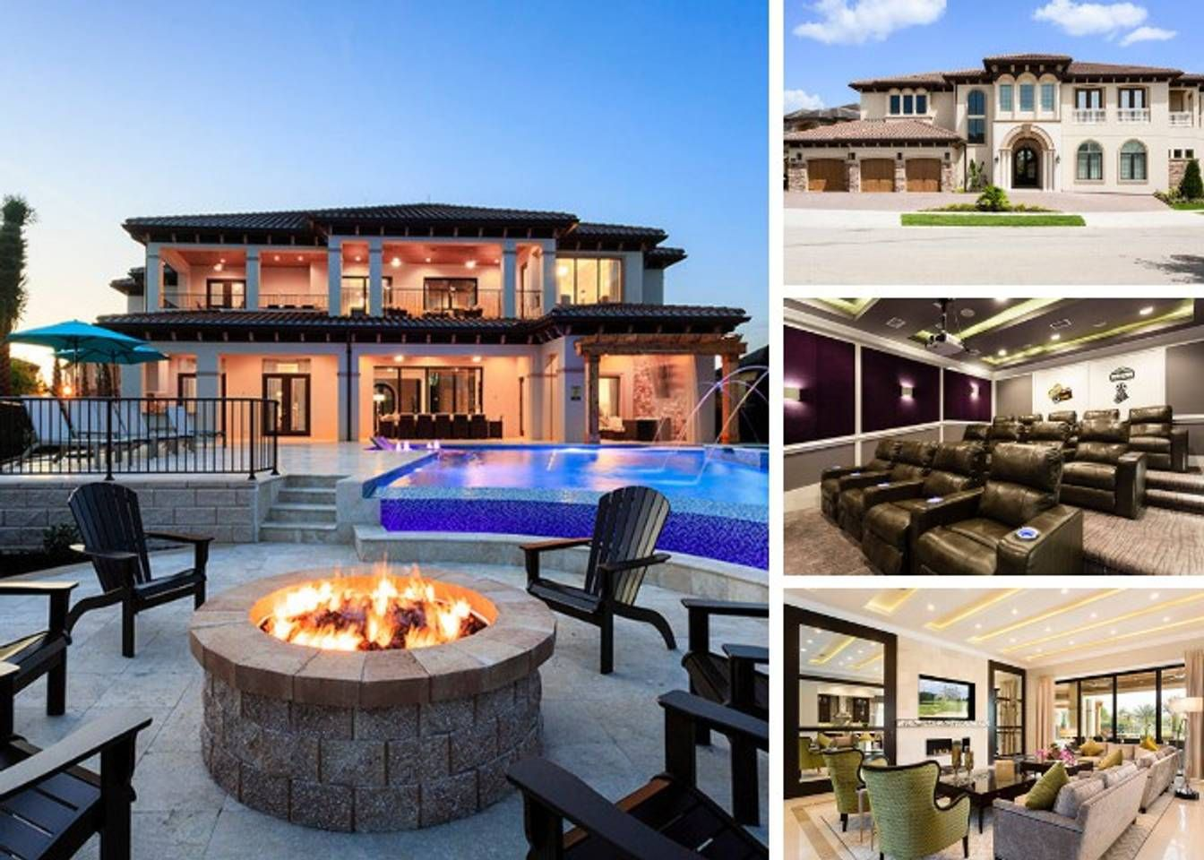 W207 Reunion Resort Mansion With 8 Bedrooms Villas For Rent In Kissimmee Florida United States Dream House Drawing Mansions Renting A House