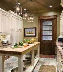 A great narrow kitchen island