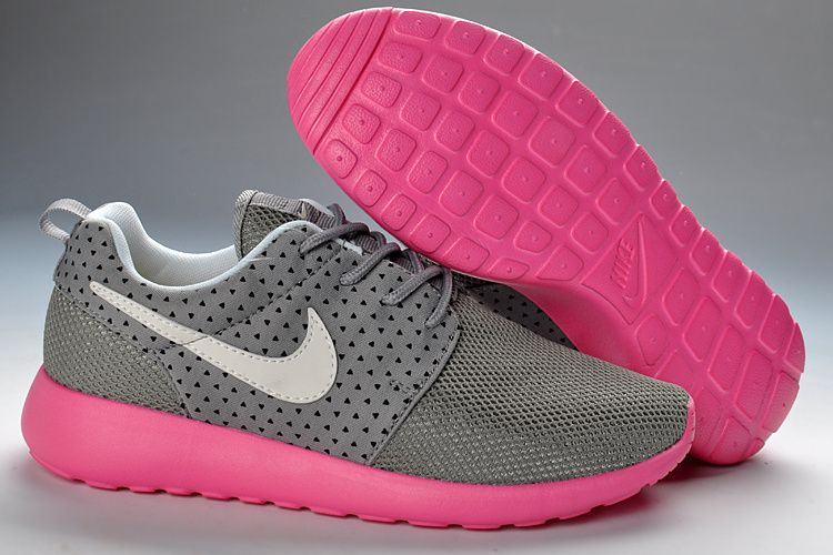Roshe Trainers Shoes Gray Pink Womens Running Trainers Shoes