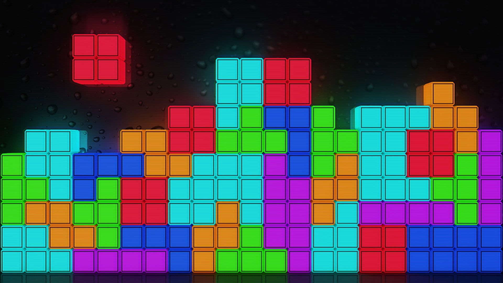 Tetris Wallpaper Vhs Abstract Minimalism Colorful Multi Colored Black And Blue Wallpaper Red Abstract Painting Red Artwork
