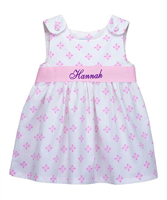 Pink Diamond Personalized Dress - Infant Toddler & Girls