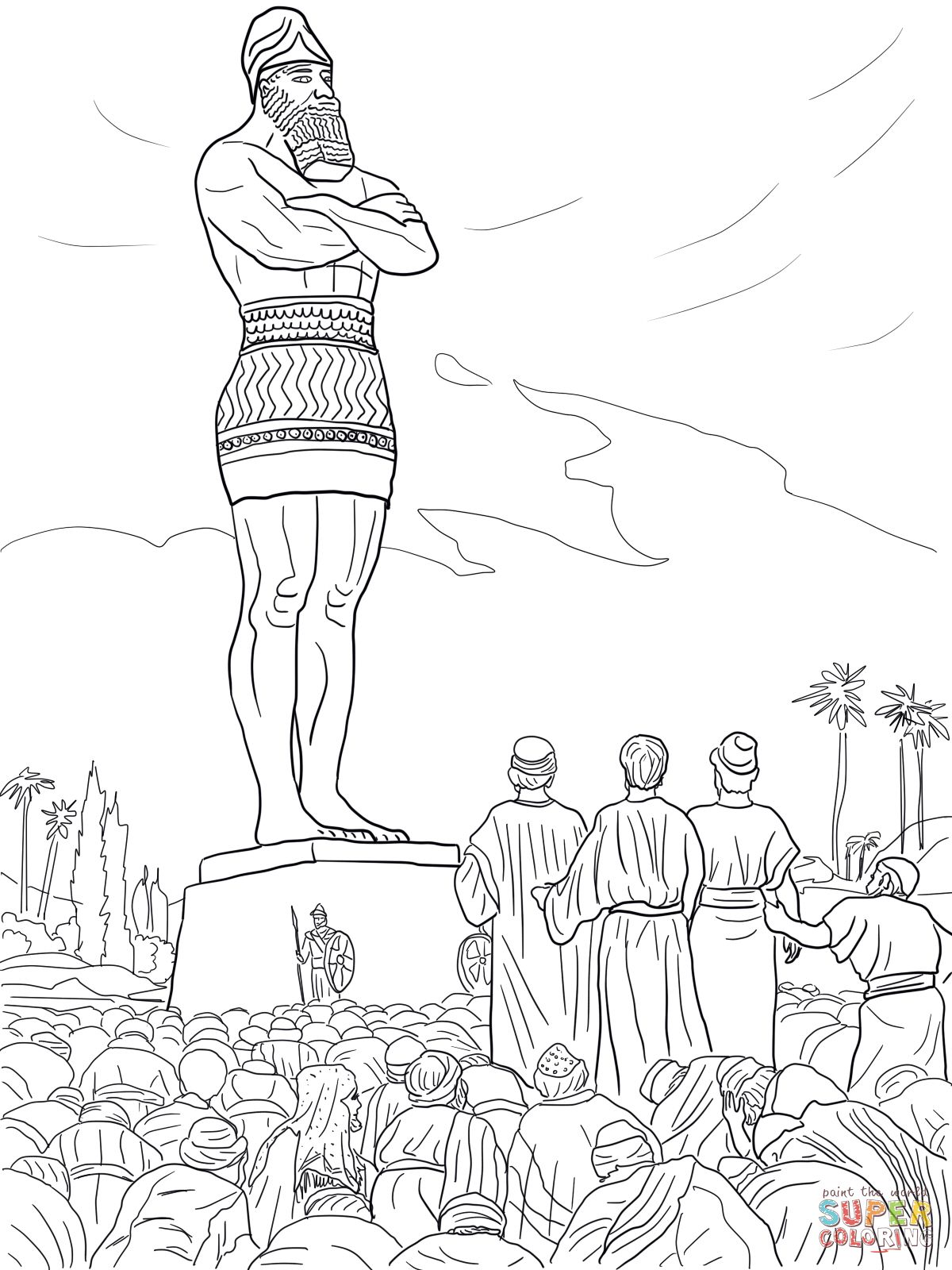 Daniel S Friends Refused To Worship The Statue Super Coloring