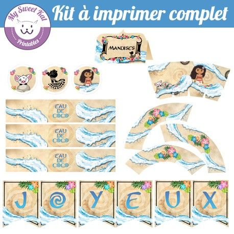 Kit à Imprimer Vaiana Ideas Of Mohana For Aidaleen S 8th