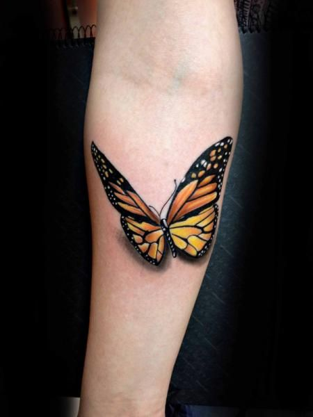Tattoo By Resul Odabas With Images Monarch Butterfly Tattoo 3d Butterfly Tattoo Butterfly Tattoos Images