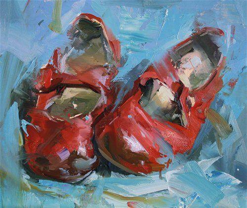 El calzado de los pies al arte redecilla pinturas y - Cuadros de pies ...