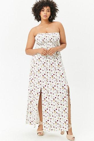 0ffe7bd3c3 Plus Size M-Slit Floral Maxi Dress | Products | Plus size dresses ...