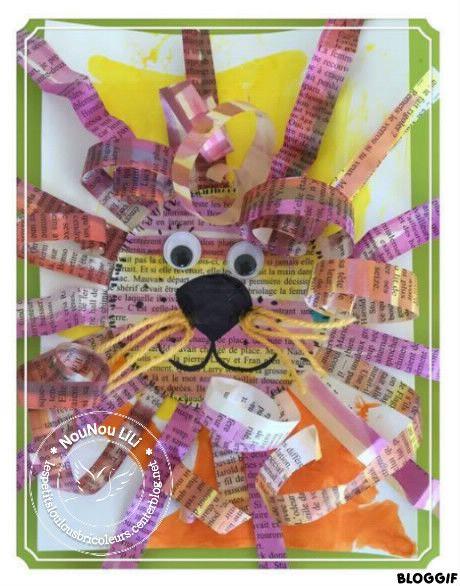 lion papier journal pinterest tete de lion assistante maternelle et activit manuelle. Black Bedroom Furniture Sets. Home Design Ideas
