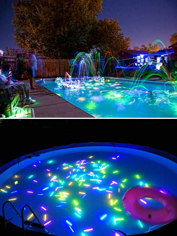 Pool Party Activities Top 21 Easy And Fun Ideas With Glowing Sticks  Diy Games Glow