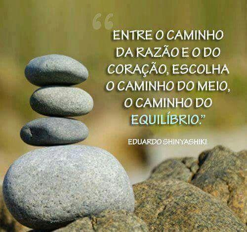 O caminho do equilíbrio...