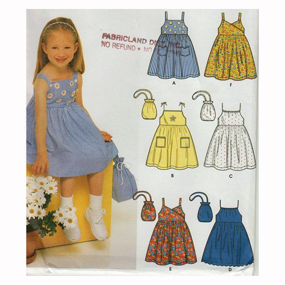Toddler And Girl Sundress Sewing Pattern Dress With Straps And Interesting Sundress Sewing Pattern