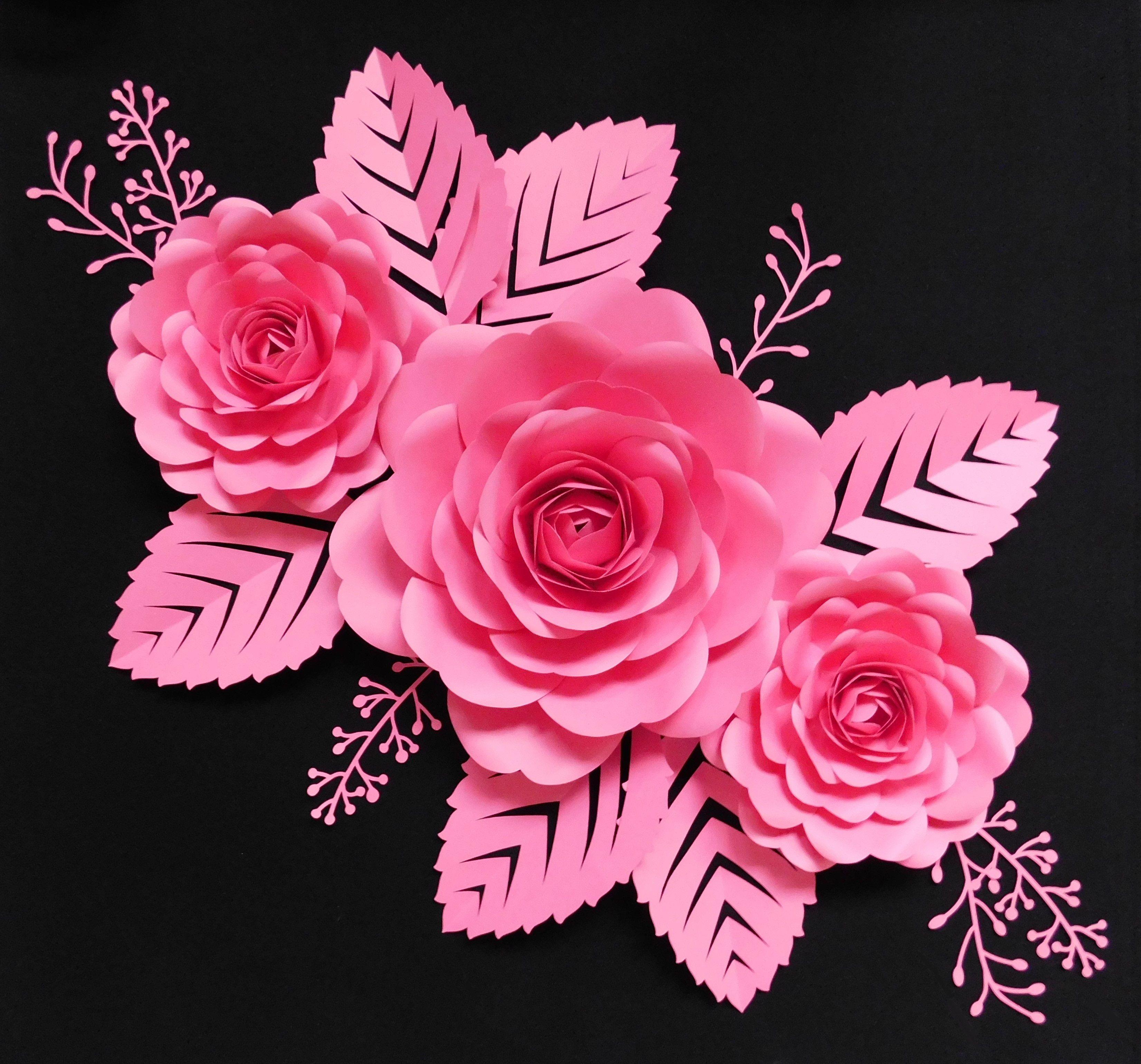 Paper Flowers Kwiaty Z Papieru Kwiaty Papierowe Kwiaty Chanel Pink Decor Paper Flowers Paper Flower Wall Flower Backdrop