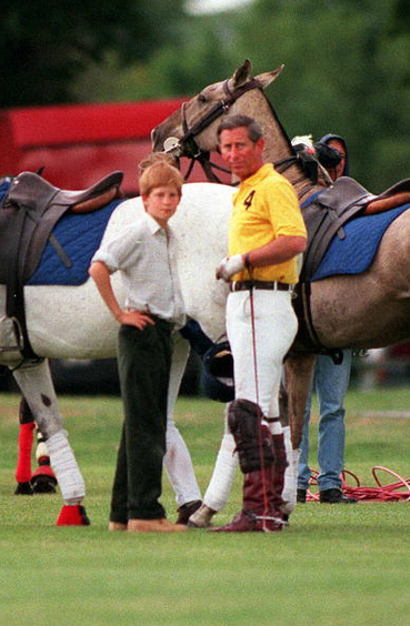 June 08, 1997: Prince Harry watched his father, Prince Charles play in a polo match in Cirencester Park.(x)