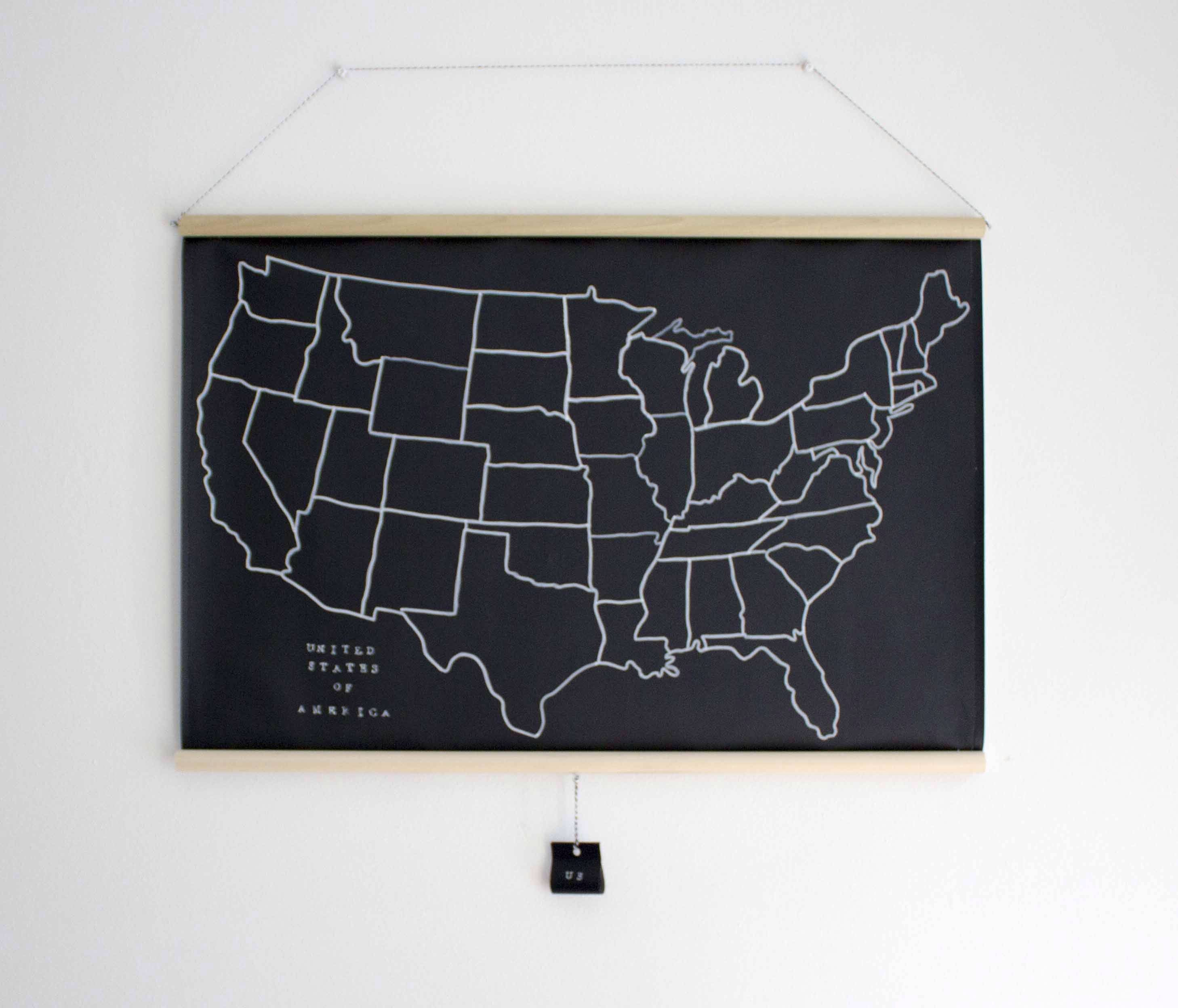 United states chalkboard map black white us map geography by united states chalkboard map black white us map geography by lakestreetave on etsy gumiabroncs Image collections