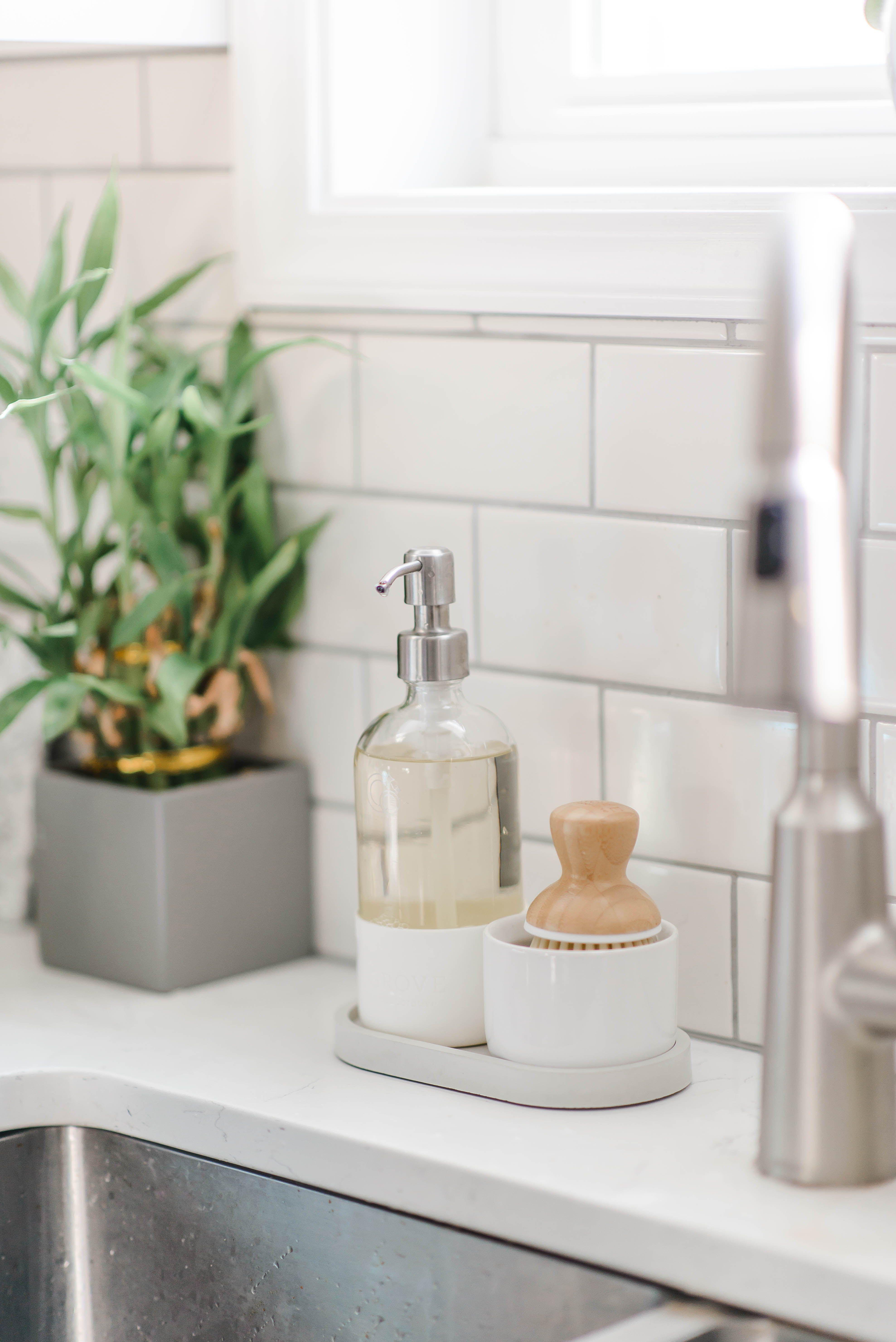 Kitchen Soap Dispenser Tray Soap Bottle Tray Kitchen Sink Caddy Dish Soap Organizer In 2021 Kitchen Soap Dispenser Kitchen Soap Kitchen Sink Decor