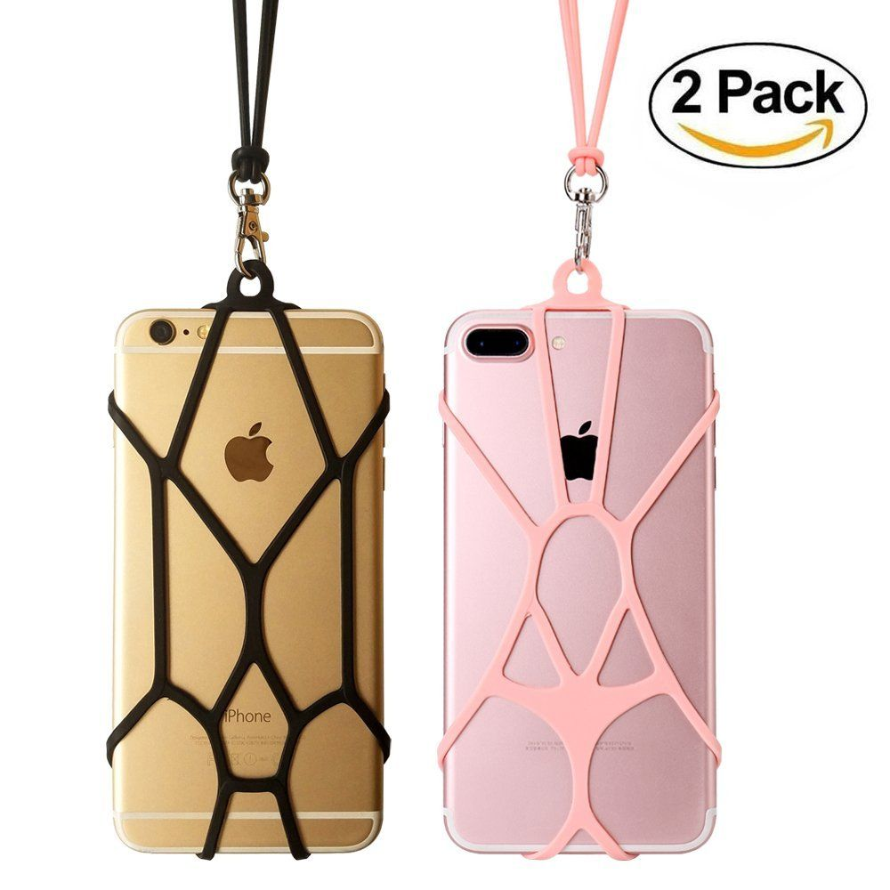 TOOVREN Universal Cell Phone Lanyard Strap Silicone Phone Lanyard Necklace Smart Phone Detachable Case for iPhone 11 Pro Max Xs Max XR X 8Plus 7 Samsung Galaxy S9 A9 J7 Note 10 Google Pixel 3 XL LG