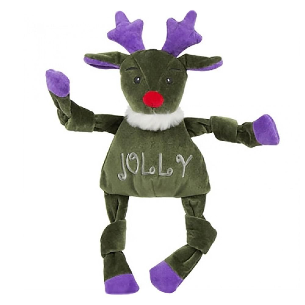 Hugglehounds Holiday Knottie Dog Toy Jolly Reindeer Dog Toys