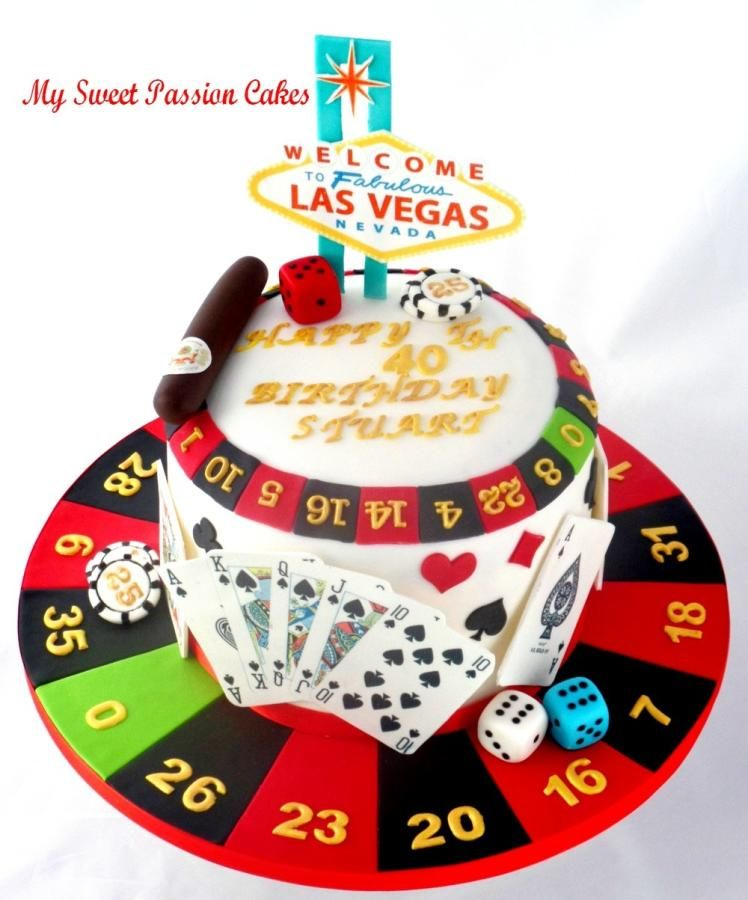 A lady requested a cake with Las Vegas as they wanted to go but it