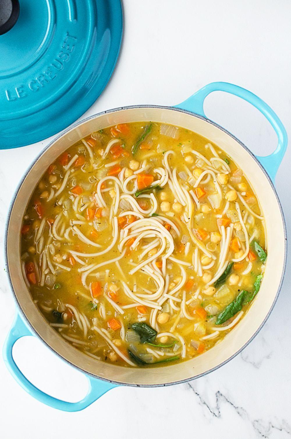Rise Shine Cook - 30 Minute Vegan Chickpea Noodle Soup-Chickpea Soup For The Soul (& The Sick!) #chickpeanoodlesoup Rise Shine Cook - 30 Minute Vegan Chickpea Noodle Soup-Chickpea Soup For The Soul (& The Sick!) #chickpeanoodlesoup