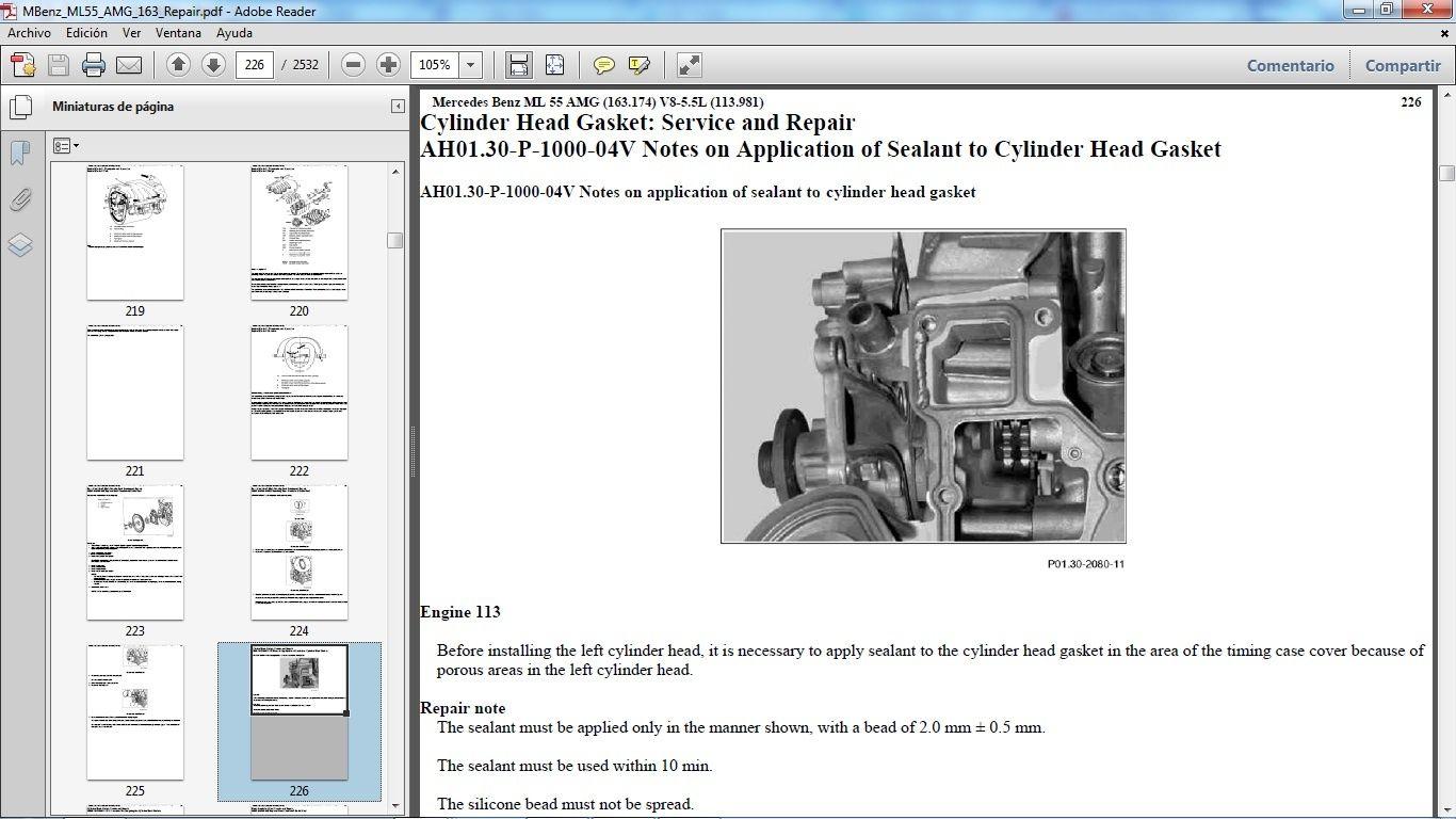 Mercedes benz ml55 amg w163 manual de taller workshop repair mercedes benz ml55 amg w163 manual de taller workshop repair fandeluxe Gallery