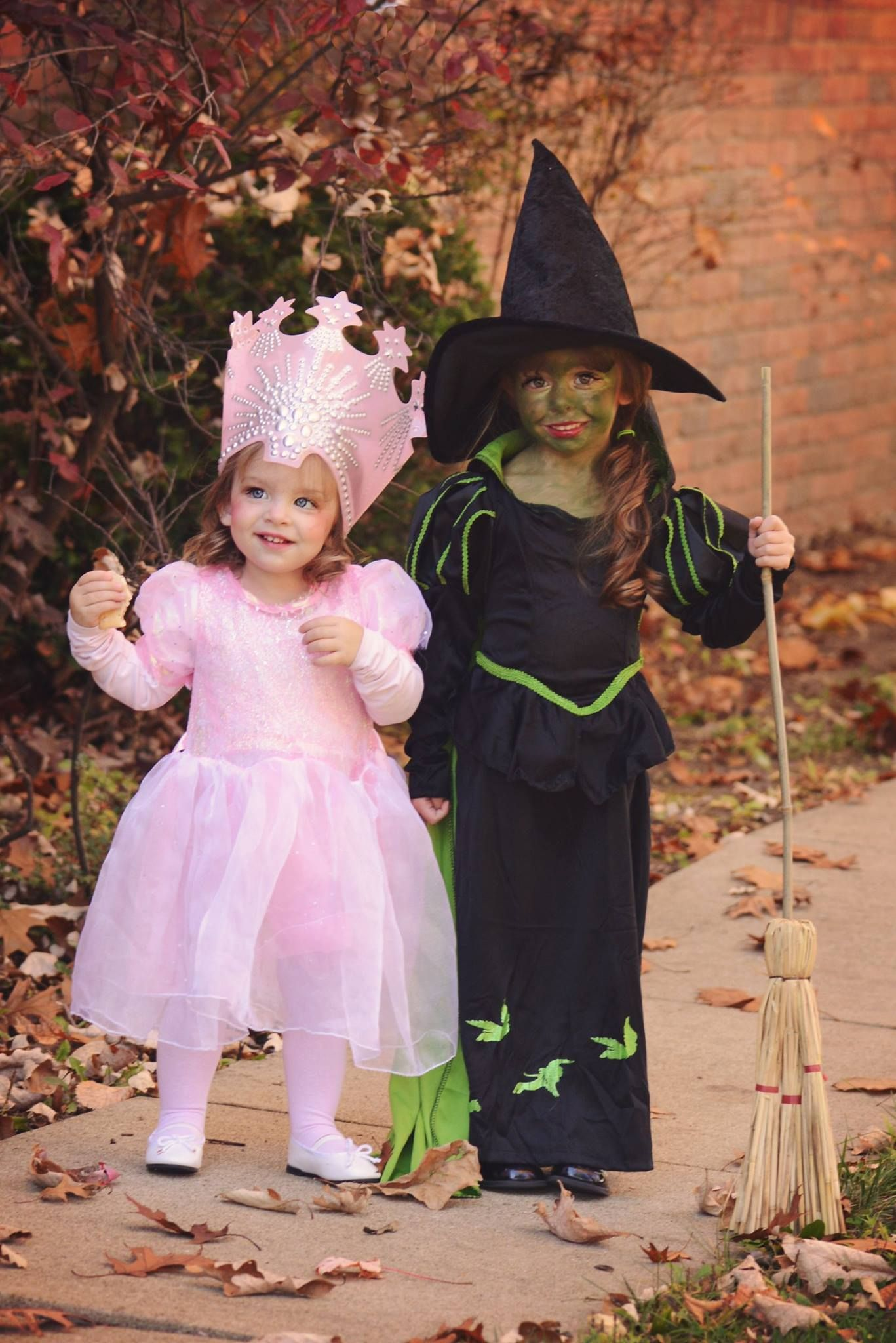 Sister Halloween Costumes Good Witch Bad Witch Glinda And