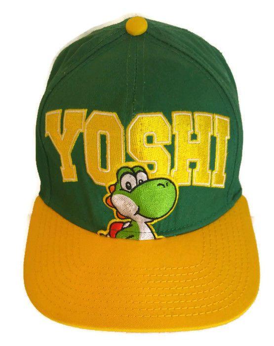 Nintendo YOSHI Hat Super Mario Bros Snapback Official Embroidered Mint   GenuineMarioBros  SnapbackBaseballHat 1fbd43113fc