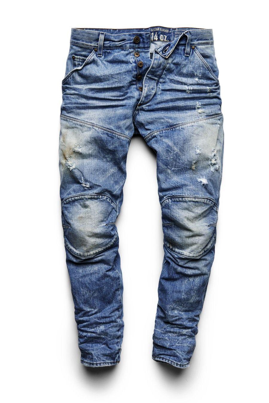 cb124ce4941 14 oz. RED LISTING G-STAR ELWOOD   Jinsida   Ripped jeans men, Denim ...