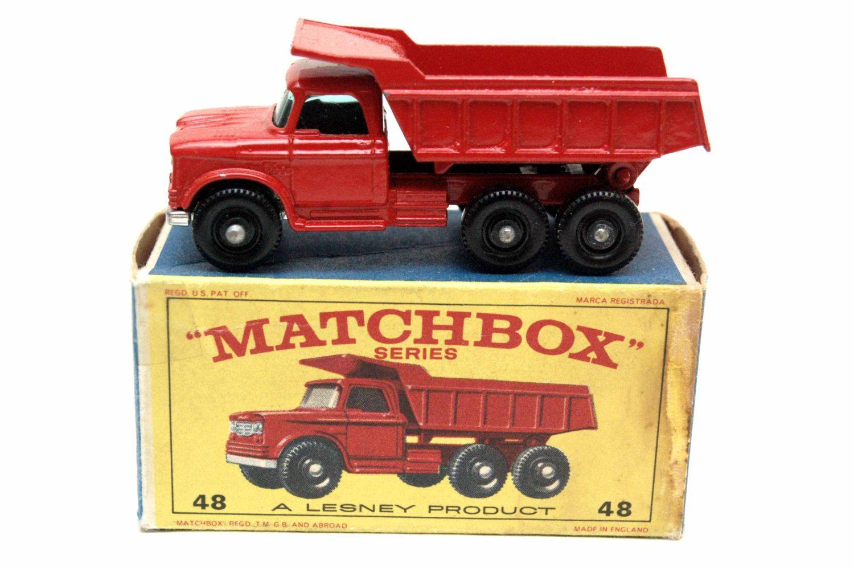 Matchbox Cars 48 Dodge Dump Truck w/ Original Box by