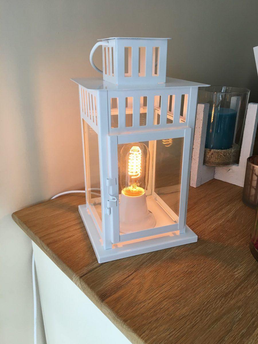 transformer une lanterne ikea en lampe pinterest ampoule vintage cable electrique et douille. Black Bedroom Furniture Sets. Home Design Ideas