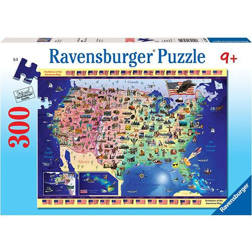 USA Map 300 Piece Puzzle 300 piece puzzles