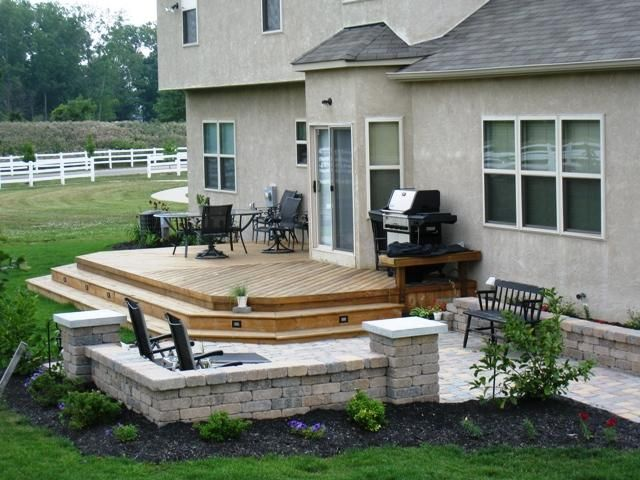 Low To Grade Deck And Patio Small Patio Design Small Backyard