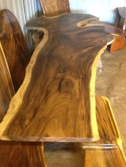 Woodworkinghawaii Koa Furniture Monkey Pod Hawaiian Custom Dining Tables