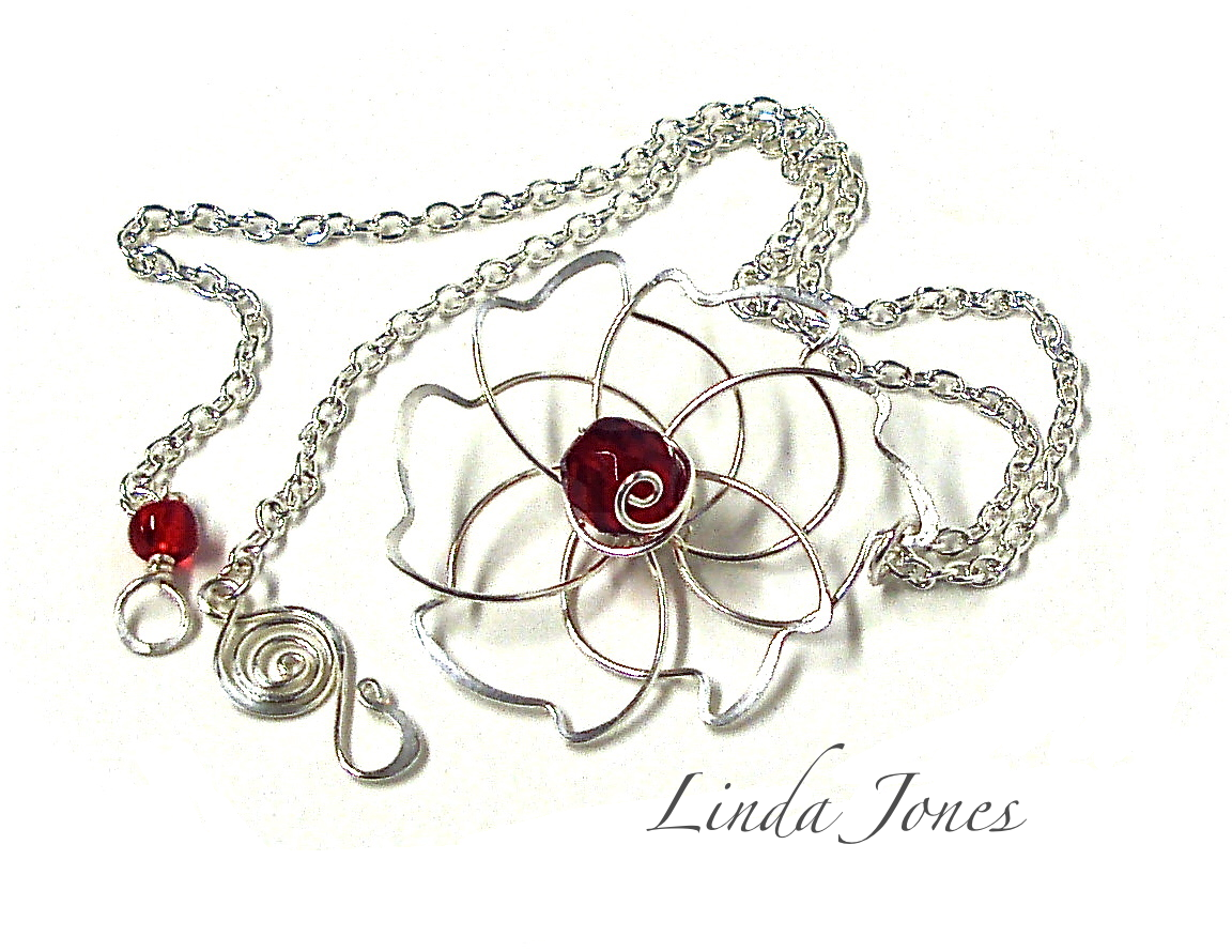 Silver Flower Necklace From C C Tv April Show Wire Wrapped